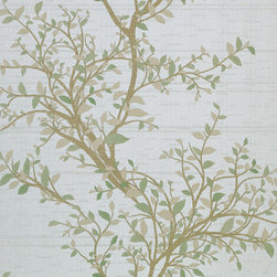 Beacon House - Phoenix Light Green Tree Of Life Wallpaper - Branch out with your decor! This delightful wallpaper has instant appeal—no need to grow on you: Delicate in pattern and hue, yet distinctive and unusual, it brings new life to your favorite setting.