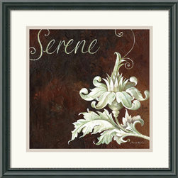 Amanti Art - Serene Framed Print by Maria Woods - The rich, bold tones and eye-catching design of 'Serene' will add a touch of sophistication any room.