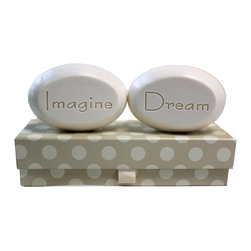 New Hope Soap - Scented Soap Bar Personalized – Imagine & Dream, Bamboo Birch - Personalized Scented Soap Bar Gift Set Engraved with Imagine & Dream