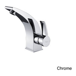 Kraus - Kraus Illusio Single Lever Bas-inch Faucet - This Kraus Illusio single-lever basin faucet features sleek lines that add a modern touch to any bathroom decor. This sing-hole,top-mount lavatory faucet is available in your choice of chrome,brushed nickel or oil rubbed bronze finishes.