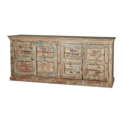 Sierra Living Concepts - Rustic Mission Reclaimed Wood Sideboard Buffet Cabinet - A cabinet can be more than just storage, it can set a tone and style for the entire room. Our Rustic Mission Sideboard infuses a sense of history and stability into your interior design.