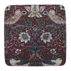Golden Hill Studio - William Morris # 6 Coaster, Set of 4 - This is a wonderful antique print of William Morris on a super absorbent neoprene coaster.  Made, printed and assembled in the USA!