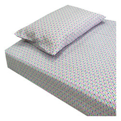 Country Club Products - Multicolored Tiny Polka Dots Twin-Single Bed Sheet Set - Features: