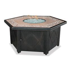 UniFlame - UniFlame GAD1380SP LP Gas Firebowl w/ Decorative Tile - 30,000 BTUs