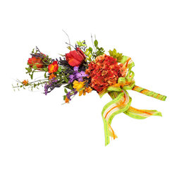Spring Bouquet - Silk flowers are a wonderful alternative to fresh but only when they look real. This gorgeous bouquet stays fresh without any work. Bring home spring in the dead of winter!