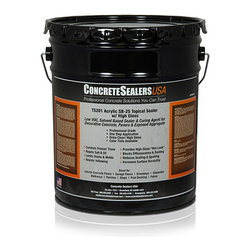 Concrete Sealers USA - TS201 Acrylic SB-25 Topical Sealer w/ High Gloss (5 gal.) - Low VOC, Solvent Based Sealer & Curing Agent for Decorative Concrete, Pavers & Exposed Aggregate