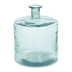 "Benzara - Beautiful Barrel Shaped Glass Vase in Minimalistic Design - Beautiful Barrel Shaped Glass Vase in Minimalistic Design. Minimalistic in appeal, this Glass vase offers versatile functionality, and seamlessly complements home settings. It comes with a following dimensions 14""W x 14""D x 17""H. 2""D."