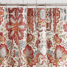Cora Kalamkari Shower Curtain | Pottery Barn