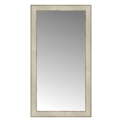 """Posters 2 Prints, LLC - 17"""" x 31"""" Libretto Antique Silver Custom Framed Mirror - 17"""" x 31"""" Custom Framed Mirror made by Posters 2 Prints. Standard glass with unrivaled selection of crafted mirror frames.  Protected with category II safety backing to keep glass fragments together should the mirror be accidentally broken.  Safe arrival guaranteed.  Made in the United States of America"""