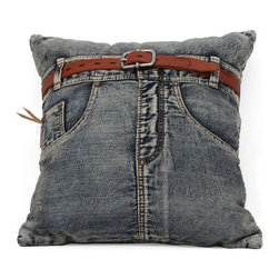 Zuo Modern - Zuo Jean Cushion in Blue Denim w/ Front Jean - Jean Cushion in Blue Denim w/ Front Jean by Zuo Modern Made from recycled denim fabric sewn into a whimsical design, the Jean Cushion in is a must for any room.   Cushion in (1)
