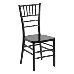 Flash Furniture - Flash Furniture Flash Elegance Black Resin Stacking Chiavari Chair - If you've been to a wedding, chances are you've sat in a Chiavari chair. Chiavari Chairs have become a classic in the event industry and are also highly popular in high profile entertainment events. This chair is used in all types of elegant events due to its lightweight, stacking capabilities and elegant design. Keep your guests comfortable with optional cushions and keep your chairs beautiful with chair covers.