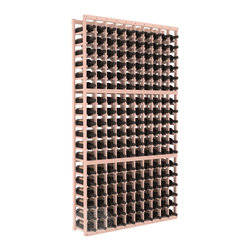 10 Column Standard Cellar Kit in Redwood with White Wash Stain + Satin Finish - This rack is vital to any serious wine collector. Rock solid assembly of high grade pine or redwood is guaranteed to last. Designed for expandability, stability and rigidity; we don't top-load an extra bottle to meet our specs.