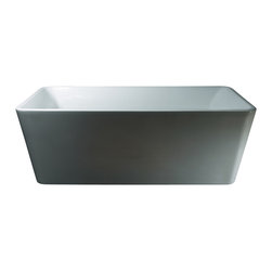 "AKDY - AKDY AK-ZF245 Europe Style White Acrylic Free Standing Bathtub, 67"" - AKDY free standing acrylic bathtubs come in many styles, shapes, and designs. The acrylic material used for tubs is very durable, light weight, and can be molded into a variety of shapes and styles which explain the large selection available in this product category. Acrylic free standing tubs are a cost efficient way to give your bathroom a unique beautiful touch. A bathtub is no longer just a piece of cast iron metal thrown into a bathroom by a builder."