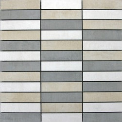 Eleganza - Eleganza - Loft Mosaic Blends (1X4) 12x12 sheet - LO1212-2 - Contemporary Collection