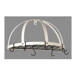 Rogar - Half Dome with White Hooks (Classic Black/Whi - Color: Classic Black/WhiteGreat for smaller kitchens. Extra storage w grid. Includes 5 Regular and 2 Grid Hooks. Classic Black and White. 22.25 in. L x 11 in. W x 12 in. H (6 lbs.)
