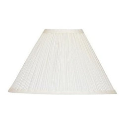 Cal Lighting - Mushroom Pleated Fabric Shade In White Finish - Mushroom pleated fabric shade in white finish. Top: 4 in.. Bottom: 12 in.. Side: 8 in.