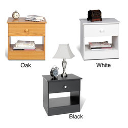 None - One-drawer Nightstand - Simplify your life with the sleek One-drawer Nightstand. With minimalist looks and maximum storage,this bedside table will help de-clutter your bedroom.