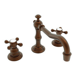 """Newport Brass - Newport Brass 930 Chesterfield Double Handle Widespread Lavatory Faucet - Chesterfield Double Handle Low Lead Widespread Lavatory Faucet with Metal Cross HandlesThe Newport Brass Chesterfield Collection features traditional styling that will bring a feel of classic decor to your home. The Chesterfield Collection from Newport Brass is a complete suite, offering sink faucets, shower faucets, roman tub fillers and accessories. Newport Brass lavatory faucets are available in several different styles with 25 unique finish options. You will see why Newport Brass boasts Flawless Beauty from Faucet to FinishFeatures:Double handle lavatory faucetADA Compliant Cross HandlesBrass Valve Bodies. Valve Included.Quarter-turn washerless ceramic disc valve cartridgesPop-up drain with tail pieceMetal cross handlesCA/VT Low lead compliantWaterSense CertifiedSolid brassReadyship Available Finishes - Finishes guaranteed to be in stock by Newport BrassForever BrassAntique BrassAntique NickelEnglish BronzeOil Rubbed BronzePolished NickelSatin NickelPolished ChromeFinish Features:Available in 25 beautiful finishesNew Industry Leading lacquer Finish ProcessIAPMO Certified and testedLong Life Finishes - 10 Year WarrantyDurable, color protected, scratch resistantGreen, low VOC, energy efficient finishing processSpecifications:Spout Reach: 6-15/16""""Spout Height: 3-15/16""""Handle Height: 2-7/8""""8"""" Centers"""