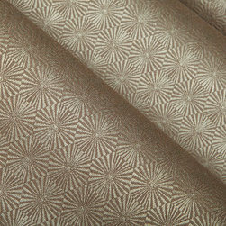 Kaleidoscope Upholstery in Clay - Kaleidoscope Upholstery in Clay. A tan/taupe toned, geometric designed fabric that has a modern feel while offering a solid neutral base.  Makes it easy to pair with other upholstered pieces and drapery.