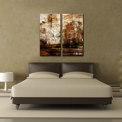 Ready2hangart - Alexis Bueno 'Abstract' Oversized Canvas Wall Art (Set of 2) - Artist: Alexis Bueno Title: Abstract Product type: Gallery Wrapped Canvas