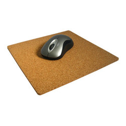 The Felt Store - Cork Mouse Pad 9 x 9 x 0.25 Inch Square With Round Corners - The Cork Mouse pad is made of fine grained cork, and is great for use with any mouse, and on any desk! Add life to your cubicle, office or home computer desk with this all natural mouse pad. The Cork Mouse pad measures 9 inches square with rounded edges, for a clean modern look. Each mouse pad is 0.25 inch thick and made of 100% fine grained cork.