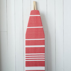 Cotton Ironing Board Cover, Heartland Stripe - Most of us have to iron, and this cover is a dose of happy. I even think it looks terrific propped against the wall.