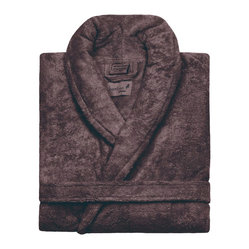 Kassatex - Kassatex Bamboo Bathrobe, Chocolate - Feeling a bit lazy today? Slip on this luxurious bamboo blend robe and find yourself avoiding real clothes for as long as humanely possible — why interrupt perfection?
