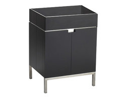 """American Standard - American Standard 9205.024.339 Studio 22"""" Vanity, Espresso - This American Standard 9205.024.339 Studio 22"""" Vanity is part of the Studio collection, and comes in a beautiful Espresso finish. This contemporary styled vanity features a birch veneer construction, brushed nickel plated legs, a glass exterior shelf, and 2 doors that open to a spacious storage with door shelves and interior storage shelf."""