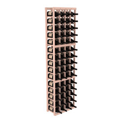 Wine Racks America - 4 Column Magnum/Champagne Cellar Kit in Redwood, White Wash - A special rack with large bin openings for proper preservation of 60 1.5L wine bottles. Integrates with other instaCellar racking easily. Our magnum style rack is designed for stability, beauty and longevity. You'll be impressed by this rack or get your money back. Guaranteed.