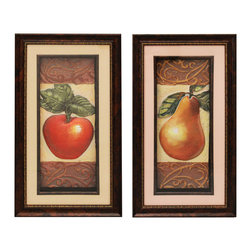 ecWorld - Urban Designs Handcrafted 2-Piece 3-D Set Artisan Metal Wall Art - Apple & Pear - Great for home kitchen!. This wall art arrives ready to hang.