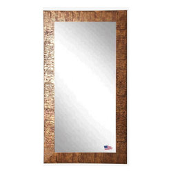 Rayne Mirrors - American Made Safari Bronze Full Length Mirror - Create dramatic visual appeal in your space with this safari inspired framed tall mirror. Its beautiful bronze grain texture adds interest to any space.  Rayne's American Made standard of quality includes; metal reinforced frame corner  support, both vertical and horizontal hanging hardware installed and a manufacturers warranty.