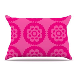 """Kess InHouse - Nicole Ketchum """"Moroccan Hot Pink"""" Pillow Case, King (36"""" x 20"""") - This pillowcase, is just as bunny soft as the Kess InHouse duvet. It's made of microfiber velvety fleece. This machine washable fleece pillow case is the perfect accent to any duvet. Be your Bed's Curator."""