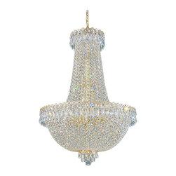 Schonbek Lighting - Schonbek Lighting 2624 Camelot Gold 16 Light Chandelier - 16 Bulbs, 60 Watt Candelabra; Product made-to-order, 6-8 week lead time