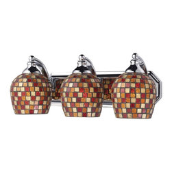 Elk Lighting - Celina Semi Flush Mount Finish: Dark Rust, Glass type: Gold -3C-MLT - Elk products are highly detailed and meticulously finished by some of the best craftsmen in the business.