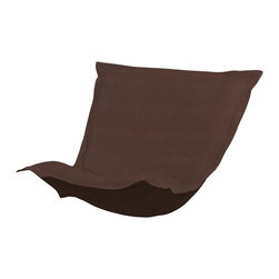 Howard Elliott - Sterling Chocolate Puff Chair Cushion - Extra Puff Cushions in Sterling are a great way to get a fresh new look without the expense of buying a whole new chair! Puff Cushions fit scroll & rocker frames. This Sterling cushion features a linen-like texture in a rich chocolate brown.