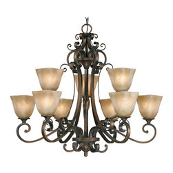 Golden Lighting - GB 9 Traditional Classic Nine Light ChandelierMeridian Collection - Golden Lighting specializes in the design and manufacture of high quality residential lighting products and accessories.