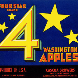 Buyenlarge - Four Star Brand Washington Apples 28x42 Giclee on Canvas - Series: Fruits & Vegetables