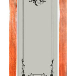 Pantry door - High quality construction - suitable for staining or painting. Sold unfinished.  Shown here in a stained pine 8' frame.