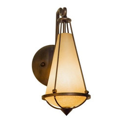 Varaluz - Varaluz 143K01 Two-If-By-Sea 1-light Wall Bracket with Smoked Creamy Glass - Varaluz 143K01 Single Wall Light from the Two If By Sea CollectionWhat if Paul Revere had to ride today? He would want an updated Colonial with traditional elements made to inspire. The creamy glass stained by the Boston Harbor gives us the rebel spirit glow.