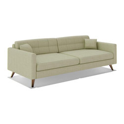 """TrueModern - Dane 87"""" Standard Sofa in Calvin Ivory - Made in the USA, sofa features Danish-style legs and several upholstery choices. Upholstery is made of 100% polyester (30,000 rub count!). *Seat Height: 16.5"""""""