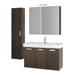 ACF - 37 Inch Wenge Bathroom Vanity Set - Begin your bathroom re-design with this Italian made vanity set by designer ACF.