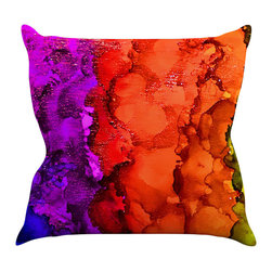 "Kess InHouse - Claire Day ""Rainbow Splatter"" Throw Pillow (18"" x 18"") - Rest among the art you love. Transform your hang out room into a hip gallery, that's also comfortable. With this pillow you can create an environment that reflects your unique style. It's amazing what a throw pillow can do to complete a room. (Kess InHouse is not responsible for pillow fighting that may occur as the result of creative stimulation)."