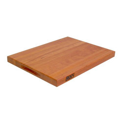 John Boos - 6-Pack Reversible Cutting Board in Cherry Fin - Set of 6. Includes hand grips. 1.5 in. Thick reversible cutting board. Cherry finish