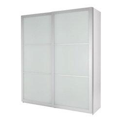 IKEA of Sweden - PAX Wardrobe with sliding doors - Wardrobe with sliding doors, white, Lyngdal glass