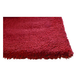 KAS - Bliss 1564 Red Rug by Kas, 27 in X 45 in - The Bliss Collection from KAS offers an extremely soft texture that is very child friendly. Hand woven from 100% polyester, these rugs are made with warm inviting color tones to go great with virtually any home decor. You will be amazed by the softness of these rugs!