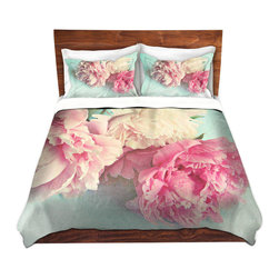 DiaNoche Designs - Duvet Cover Microfiber - Like Yesterday - Super lightweight and extremely soft Premium Microfiber Duvet Cover in sizes Twin, Queen, King.  This duvet is designed to wash upon arrival for maximum softness.   Each duvet starts by looming the fabric and cutting to the size ordered.  The Image is printed and your Duvet Cover is meticulously sewn together with ties in each corner and a hidden zip closure.  All in the USA!!  Poly top with a Cotton Poly underside.  Dye Sublimation printing permanently adheres the ink to the material for long life and durability. Printed top, cream colored bottom, Machine Washable, Product may vary slightly from image.
