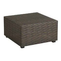 Ciudad Ottoman, Mocha - Perhaps you have an outdoor space that could benefit from an ottoman? This durable fabric will keep the party going outdoors.