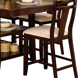 Steve Silver Furniture - Steve Silver Munich Counter Height Stool - The Munich counter height Collection is a timeless set with extreme versatility to fit any home decor. The counter height chairs feature solid wood construction with a neutral color microfiber upholstered seat.