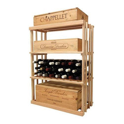 Wine Cellar Innovations - 3 ft. 1-Column Wooden Wine Rack (Rustic Pine - Midnight Black Stain) - Choose Wood Type and Stain: Rustic Pine - Midnight Black Stain. Bottle capacity: 48. One column wine rack. Versatile wine racking. Custom and organized look. Can accommodate just about any ceiling height. Can store wood cases, cardboard boxes or loose wine bottles. Wine rack: 26.69 in. W x 13.5 in. D x 35.94 in. H (11 lbs.). Optional base platform: 26.69 in. W x 13.38 in. D x 3.81 in. H (5 lbs.). Vintner collection. Made in USA. Warranty. Assembly Instructions. Rack should be attached to a wall to prevent wobble