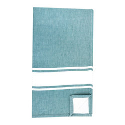 BrandWave - Bath Fouta, Teal - Combining two traditions, we took our inspiration from a combination of traditional Turkish bath sheets, and a standard Western terry bath towel. Turkish bath sheets are flat-woven and traditionally used in bathhouses. The combination of the highly absorbent fouta and the traditional Western terry makes this bath sheet, in colors you recognize, familiar enough for you to use on an everyday basis.